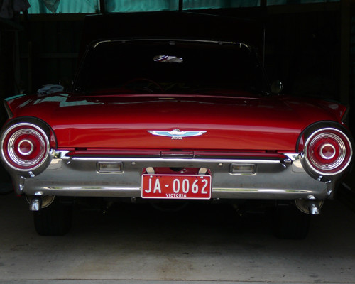T-Bird, all repairs and chromework on original chrome pieces completed here.
